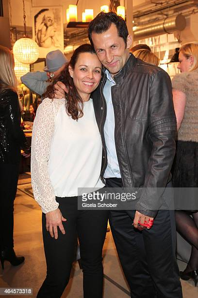Hasan Salihamidzic and his wife Esther Copado during the Pre Opening Event Exhibition Insights by Mayk Azzato presented by KARE Kraftwerk on February...