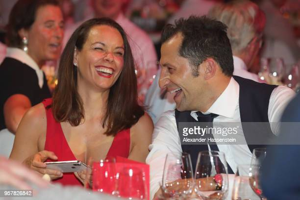 Hasan Salihamidzic attends with Esther Copado the FC Bayern Muenchen Celebration 2018 Party at Nockherberg on May 12 2018 in Munich Germany