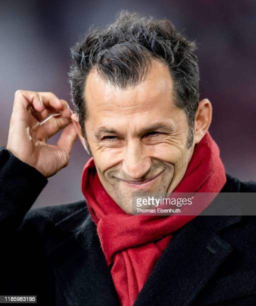 Hasan Salihamidzic, director sport of Munich, reacts prior the UEFA Champions League group B match between Bayern Muenchen and Olympiacos FC at...