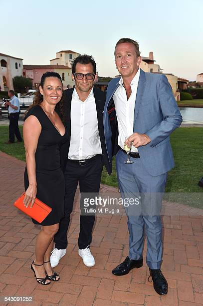 Hasan Salihamidzic Esther Copado and Jamie Cunningham attend the Gala Dinner during The Costa Smeralda Invitational golf tournament at Pevero Golf...