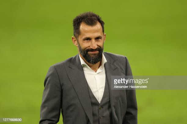 Hasan Salihamidzic, manager of FC Bayern Muenchen looks on after the Supercup 2020 match between FC Bayern München and Borussia Dortmund at Allianz...