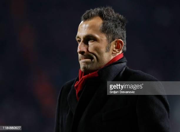 Hasan Salihamidzic of Bayern Muenchen looks on during the UEFA Champions League group B match between Crvena Zvezda and Bayern Muenchen at Rajko...