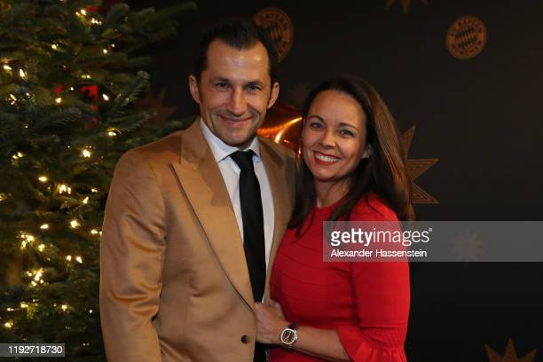 Hasan Salihamidzic of FC Bayern Muenchen attends with his wife Esther Copado the clubs Christmas party at Allianz Arena on December 08 2019 in Munich...