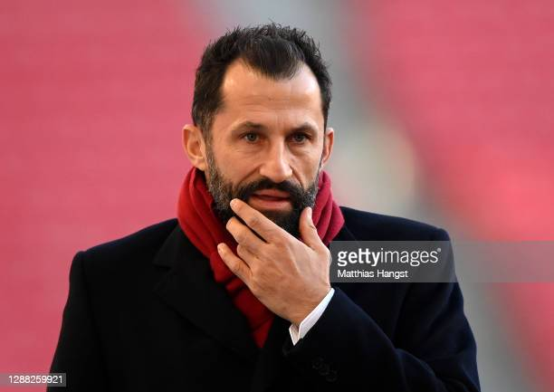 Hasan Salihamidzic Sporting Director of Bayern Munich prior to the Bundesliga match between VfB Stuttgart and FC Bayern Muenchen at Mercedes-Benz...
