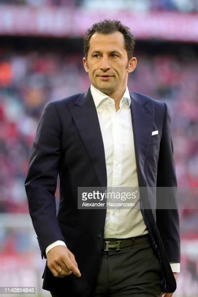 Hasan Salihamidzic, sporting director of FC Bayern Muenchen looks on prior to the Bundesliga match between FC Bayern Muenchen and Borussia Dortmund...