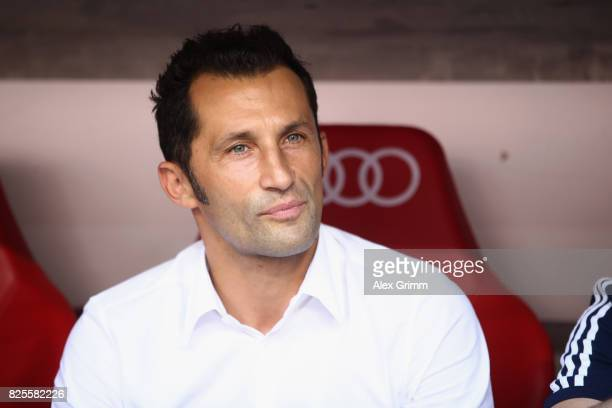 Hasan Salihamidzic Sporting Director of FC Bayern Muenchen looks on during the Audi Cup 2017 match between SSC Napoli v FC Bayern Muenchen at Allianz...