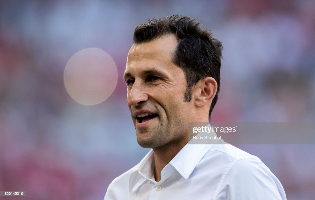 Hasan Salihamidzic, Sporting Director of FC Bayern Muenchen looks on prior to the Audi Cup 2017 match between SSC Napoli and FC Bayern Muenchen at Allianz Arena on August 2, 2017 in Munich, Germany.
