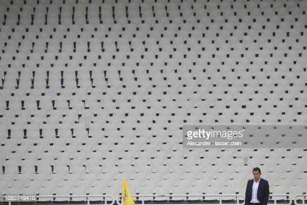 Hasan Salihamidzic sportring director of FC Bayern Muenchen looks on during a training session ahead of their UEFA Champions League Group E match...