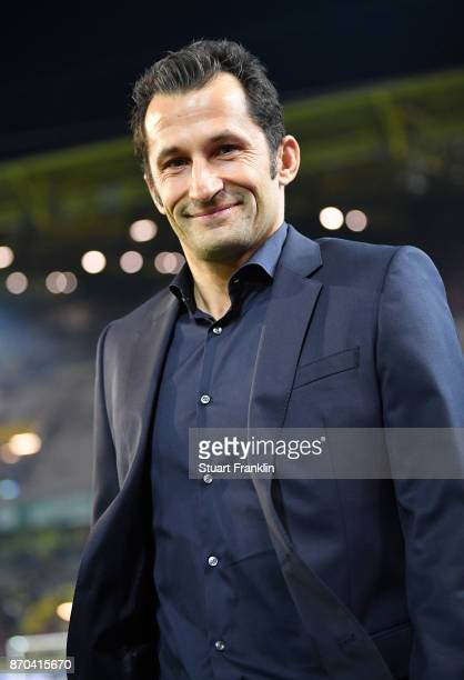 Hasan Salihamidzic sports director of Muenchen looks on during the Bundesliga match between Borussia Dortmund and FC Bayern Muenchen at Signal Iduna...