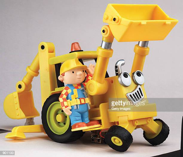 Hasbro's Bob the Builder Electronic Talking Scoop is on display in an undated photo The toy is advertised to have expressive faces sounds and motion...