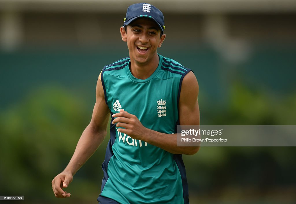 Haseeb Hameed during a training session before the second test match between Bangladesh and England at Shere Bangla National Stadium on October 26, 2016 in Dhaka, Bangladesh.