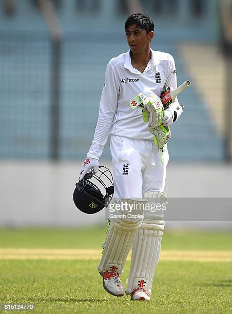 Haseeb Hameed of England during day two of the tour match between a Bangladesh Cricket Board XI and England at MA Aziz stadium on October 17 2016 in...