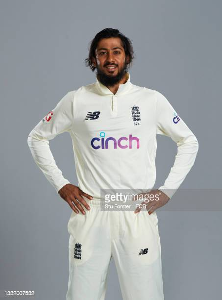 Haseeb Hameed of England poses during a portrait session at Trent Bridge on August 01, 2021 in Nottingham, England.