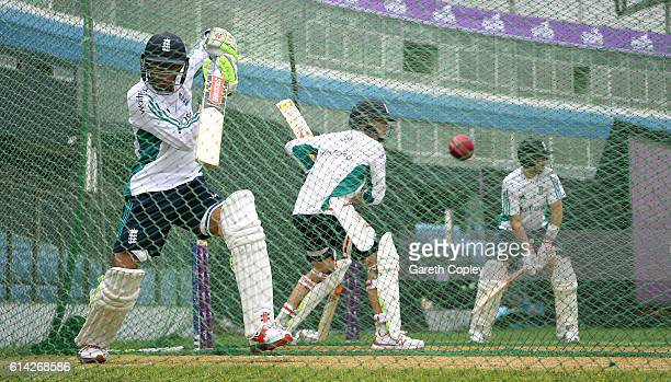 Haseeb Hameed of England waits to bat during a nets session at Zohur Ahmed Chowdhury Stadium on October 13 2016 in Chittagong Bangladesh