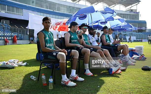 Haseeb Hameed of England watches nets during a nets session at Zohur Ahmed Chowdhury Stadium on October 19 2016 in Chittagong Bangladesh