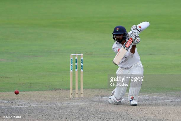 Haseeb Hameed of Lancashire bats during day two of the Specsavers County Championship division one match between Lancashire and Yorkshire at Emirates...