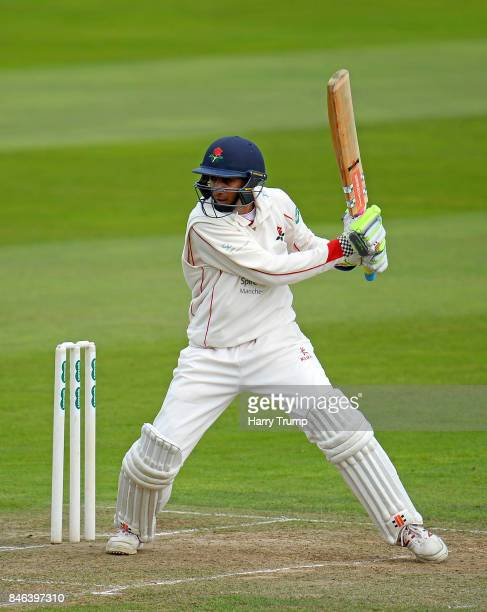 Haseeb Hameed of Lancashire bats during Day Two of the Specsavers County Championship Division One match between Somerset and Lancashire at The...