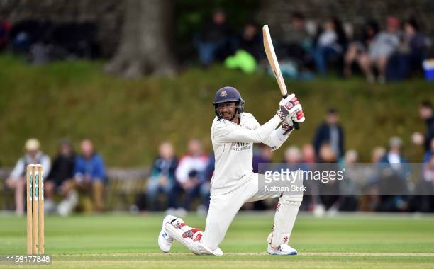 Haseeb Hameed of Lancashire bats during the Specsavers County Championship Division Two between Lancashire and Durham at Sedbergh School on June 30...
