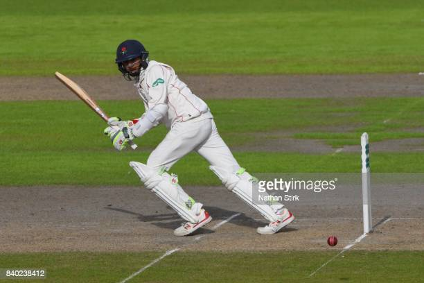 Haseeb Hameed of Lancashire batting during the County Championship Division One match between Lancashire and Warwickshire at Old Trafford on August...