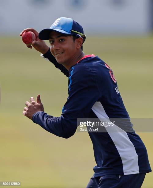 Haseeb Hameed of the England Lions during the warm up before the start of play on day 1 of the match between England Lions and South Africa A at The...