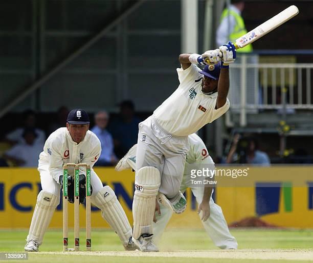 Hashan Tillakaratne of Sri Lanka in action during the 2nd Npower Test Match between England and Sri Lanka at Edgbaston in Birmingham on June 02 2002
