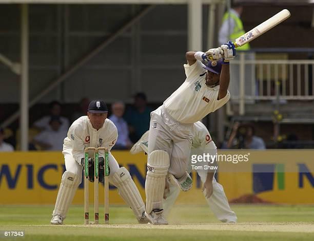 Hashan Tillakaratne of Sri Lanka in action during the 2nd Npower Test Match between England and Sri Lanka at Edgbaston Birmingham on June 2 2002