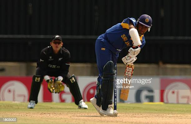 Hashan Tillakaratne of Sri Lanka in action during the Cricket World Cup Pool B match between Sri Lanka and New Zealand held on February 10 2003 at...
