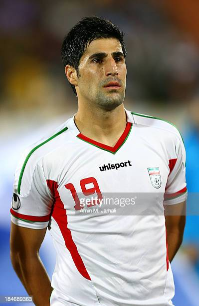 Hashem Beykzadeh during AFC Asian Cup Qualifiers between Iran and Thailand at Azadi Stadium Tehran Iran on October 15 2013 in Tehran Iran