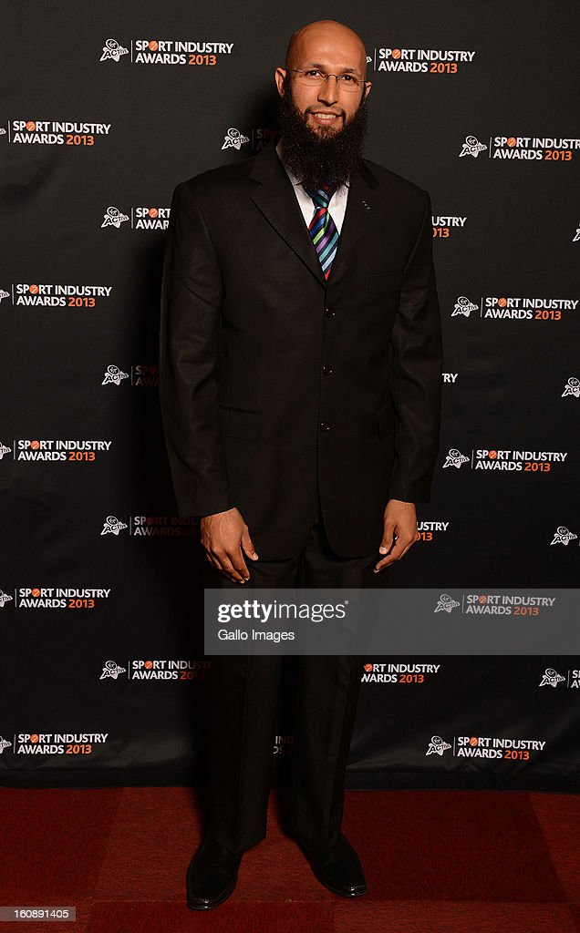 Hashim Amla attends the Virgin Active Sport Industry Awards 2013 held at Emperors Palace on February 07, 2013 in Johannesburg, South Africa.