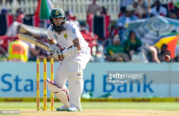 Hashim Amla of South Africa during day 1 of the 2nd Sunfoil Test match between South Africa and India at SuperSport Park on January 13 2018 in...