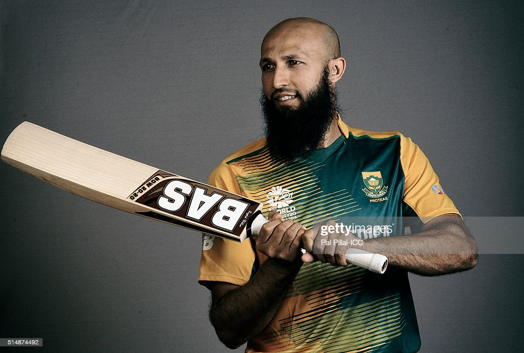 Hashim Amla of South Africa poses during the official photocall for the ICC Twenty20 World on March 11, 2016 in Mumbai, India.