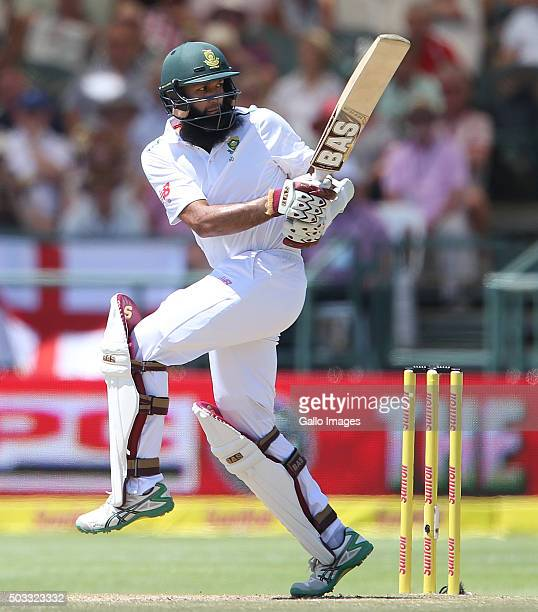 Hashim Amla of the Proteas bats during day 3 of the 2nd Test match between South Africa and England at PPC Newlands on January 04 2016 in Cape Town...