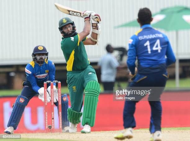 Hashim Amla of the Proteas in action during the 5th ODI between South Africa and Sri Lanka at SuperSport Park on February 10 2017 in Pretoria South...