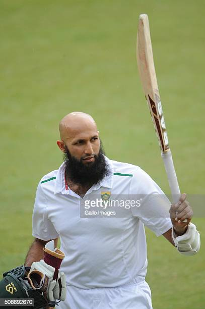 Hashim Amla of the Proteas out for 96 runs during day 4 of the 4th Test match between South Africa and England at SuperSport Stadium on January 25...
