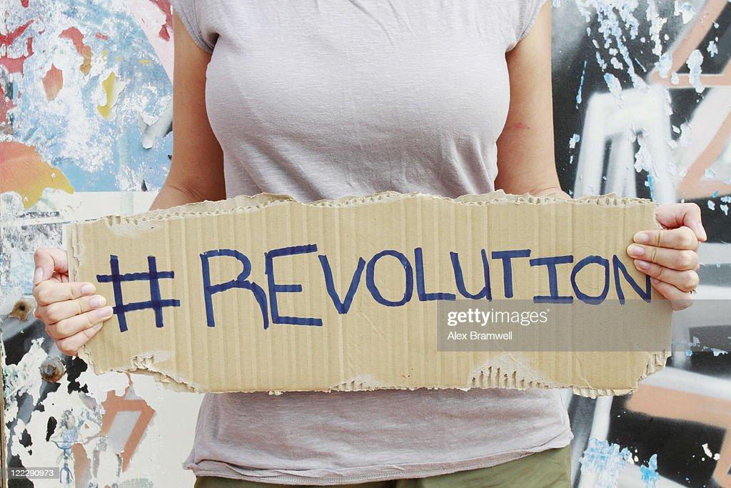 Hashtag Revolution : Stock Photo