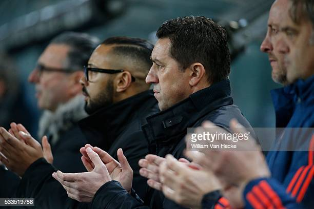 Hasi Besnik head coach of Rsc Anderlecht in memorial dominique D'Onofrio pictured during the Jupiler pro league match between Rsc Anderlecht and...