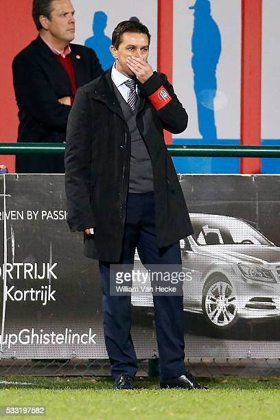 Hasi Besnik head coach of Rsc Anderlecht pictured during the 1/8e Final of the CROKY CUP match between Kv Kortrijk and Rsc Anderlecht on december 02...