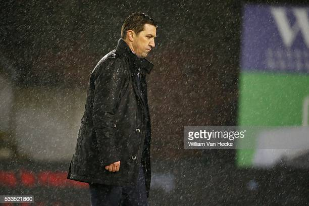 Hasi Besnik head coach of Rsc Anderlecht pictured during the Jupiler Pro League match between Mouscron Peruwelz and Rsc Anderlecht on the Canonnier...