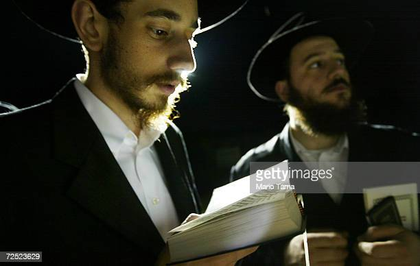 Hasidic Jewish visitors wait in line on Abraham Avenue to visit the grave of Rabbi Menachem Mendel Schneerson the seventh grand rebbe of the...