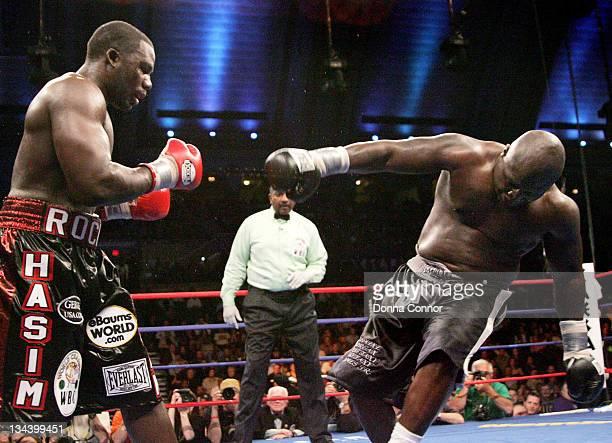 Hasim Rahman and James Toney during WBC Heavyweight Championship Fight - Hasim Rahman vs James Toney - March 18, 2006 at Boardwalk Hall in Atlantic...