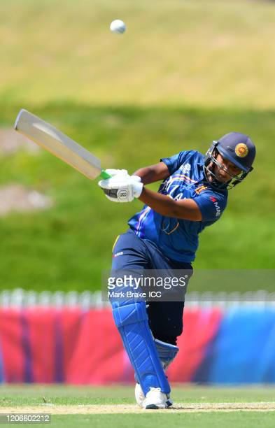 Hasini Perera of Sri Lanka bats during the ICC Women's T20 Cricket World Cup Warm Up match between Sri Lanka and South Africa at Karen Rolton Oval on...