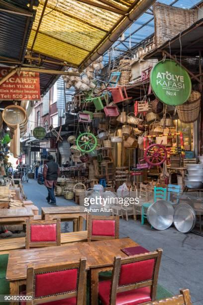 Hasircilar shopping street,Eminonu,Fatih district in Istanbul,Turkey