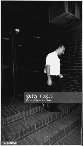 Hassan Ahmed leaves Glebe Coroners Court after the case against him on his daughters murder was discharged from court February 2 1993