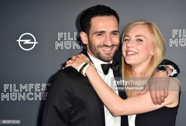 Hassan Akkouch and Elisa Schlott attend the 'Fremde Tochter' Premiere during Film Festival Munich 2017 at Arri Kino on June 28 2017 in Munich Germany