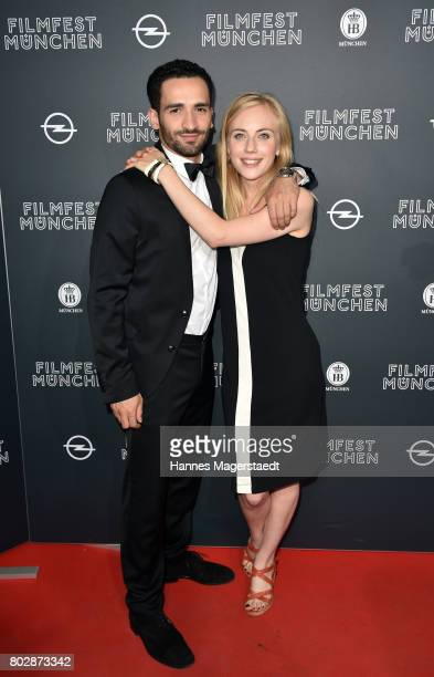 Hassan Akkouch and Elisa Schlott attend the 'Fremde Tochter' Premiere during Film Festival Munich 2017 at Arri Kino on June 28, 2017 in Munich,...