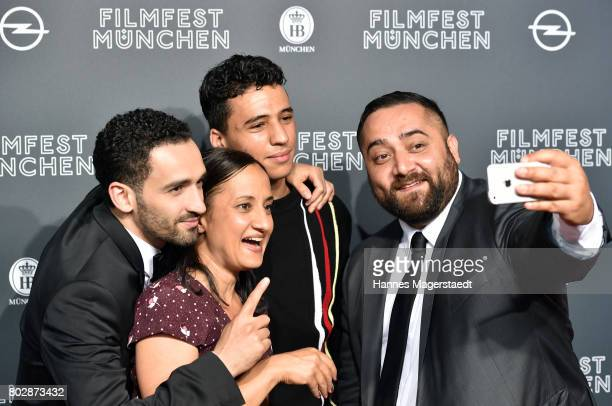 Hassan Akkouch Meriam Abbas Mahamed Issa and Kailas Mahadevan attend the 'Fremde Tochter' Premiere during Film Festival Munich 2017 at Arri Kino on...