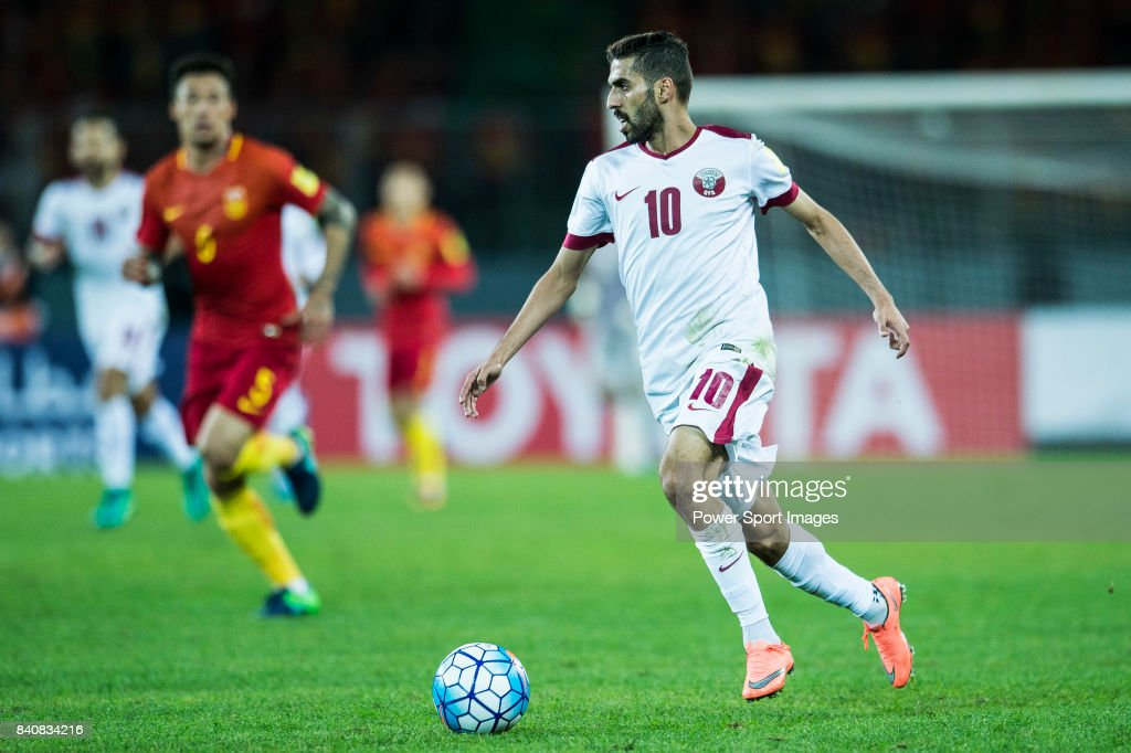 Hassan Al Haydos Of Qatar In Action During The 2018 FIFA
