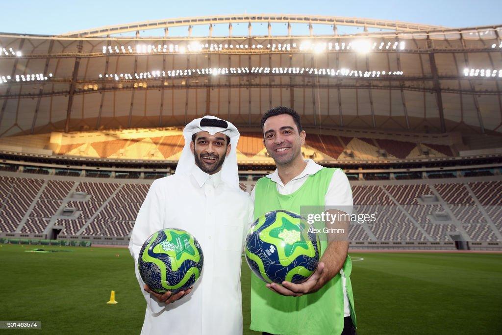2022 FIFA World Cup Qatar OC Stadium Tour And Press Conference : News Photo