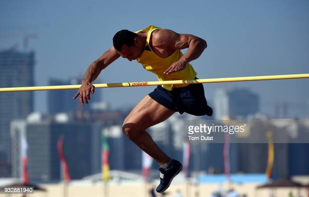 Hassan Hamada of Egypt competes in men's high jump final during 10th Fazza International IPC Athletics Grand Prix Competition World Para Athletics...