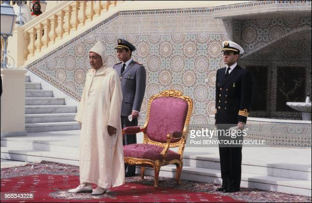 Hassan II and his sons.
